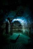 Zwarte ruimte in Fort 13, Roemenië Stock Foto