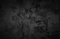 Zwarte schaduwrijke muur. Stock Afbeeldingen