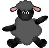 Zwarte schapen Royalty-vrije Stock Foto