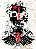 Zwarte schedel Royalty-vrije Stock Afbeeldingen