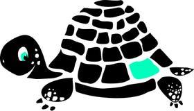 Zwarte schildpad Royalty-vrije Stock Afbeelding