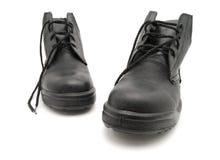Zwarte schoen Royalty-vrije Stock Afbeeldingen
