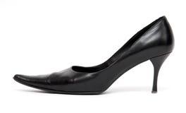 Zwarte schoen sideview Stock Afbeelding