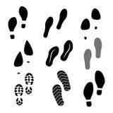 Zwarte schoenaf:drukken Stock Foto