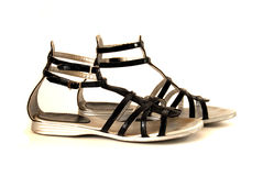 Zwarte schoenen Stock Fotografie