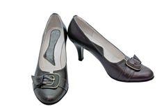 Zwarte schoenen Stock Afbeelding