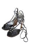 Zwarte schoenen royalty-vrije stock foto