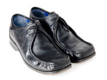 Zwarte schoenen Royalty-vrije Stock Fotografie