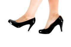 Zwarte schoenen Royalty-vrije Stock Foto's
