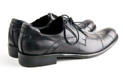 Zwarte schoenenclose-up Stock Afbeelding