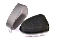 Zwarte schoenspons shinner Royalty-vrije Stock Afbeeldingen