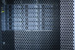 Zwarte serverkabinetten in het gegevenscentrum Royalty-vrije Stock Afbeeldingen