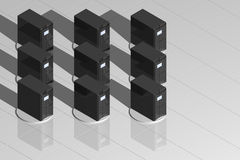 Zwarte servers stock illustratie