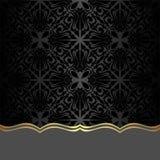 Zwarte sierachtergrond met Grens voor Ontwerp Stock Foto's