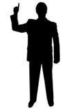 Zwarte silhouetmens op wit stock afbeeldingen