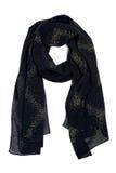 Zwarte sjaal op de hals op een witte achtergrond, Moslimstijl Royalty-vrije Stock Foto's