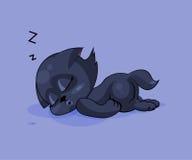 Zwarte in slaap kat Stock Fotografie