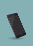 Zwarte Slimme Telefoon Vectorillustratie Stock Foto's