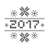 Zwarte sneeuwvlokken Vector illustratie royalty-vrije illustratie