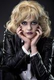 Zwarte Spijkers op een Goth-Wijfje Royalty-vrije Stock Afbeelding