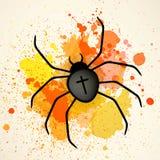Zwarte spin Royalty-vrije Stock Afbeeldingen