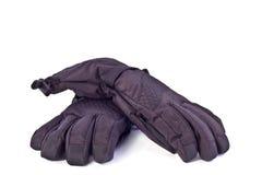 Zwarte sportenhandschoenen Stock Foto's