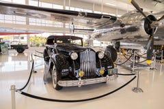 Zwarte sportfaëton van Packard van 1939 Model 1708 Royalty-vrije Stock Foto's