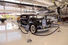 Zwarte sportfaëton van Packard van 1939 Model 1708 Royalty-vrije Stock Fotografie