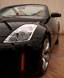 Zwarte sportwagen Stock Foto