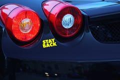 Zwarte Sportwagen Stock Afbeeldingen