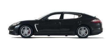 Zwarte sportwagen Stock Afbeelding