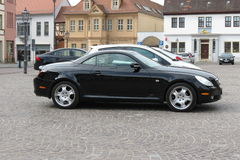 Zwarte sportwagen Lexus Stock Afbeelding