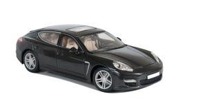 Zwarte sportwagen Turbo Stock Afbeelding