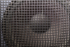 Zwarte sprekersgrill Stock Fotografie