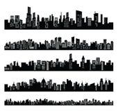 Zwarte stad stock illustratie