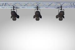 Zwarte stadiumlichten Stock Foto