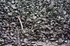Zwarte steenkool. Royalty-vrije Stock Afbeelding