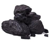Zwarte steenkool royalty-vrije stock afbeelding
