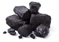 Zwarte steenkool Royalty-vrije Stock Foto's