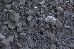 Zwarte steenkoolclose-up stock fotografie