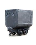 Zwarte steenkoolwagen stock afbeeldingen