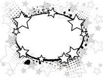 Zwarte sterren Royalty-vrije Stock Foto's