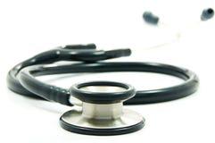 Zwarte stethoscoop Stock Foto