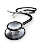 Zwarte stethoscoop Stock Afbeeldingen