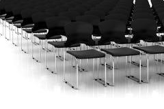 Zwarte stoelen Stock Foto's