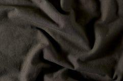 Zwarte stoffentextuur Stock Foto's