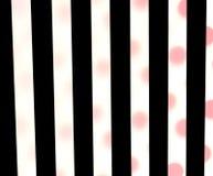 Zwarte strepen, rode stippen Stock Fotografie