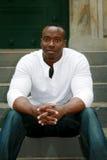 Zwarte student bij de Universiteit Stock Afbeeldingen