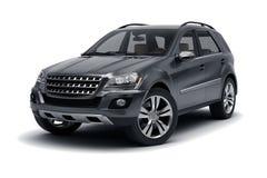 Zwarte SUV Royalty-vrije Stock Afbeeldingen
