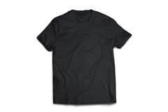 Zwarte t-shirt Royalty-vrije Stock Afbeeldingen